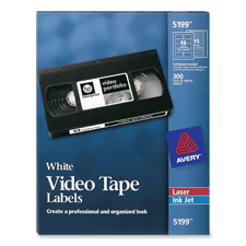 Avery Laser Video Tape Labels