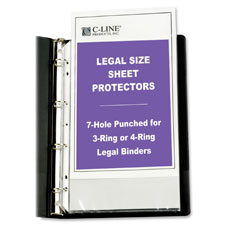C-Line Legal Size Top Loading Sheet Protectors