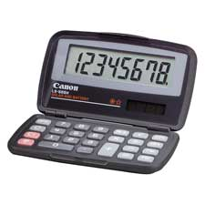 "8-dgt fold pocket calculator,dual pwr,4-1/3""x2-2/3""x3/5"",ccl, sold as 1 each"