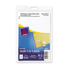 Avery 05410 Removable ID Labels, 1