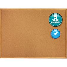 Quartet Oak Frame Cork Bulletin Boards