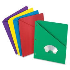 Esselte Oxford Slash Pkt Folders w/ Die-Cut Pocket