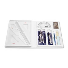 Student architectural drafting kit, locking plastic case, sold as 1 each