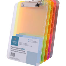 "Plastic clipboard,w/ flat clip,9""x12"",smoke, sold as 1 each"