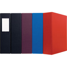 "3-ring ezd binder w/label holder, 3""cap, 8-1/2""x11"", blue, sold as 1 each"