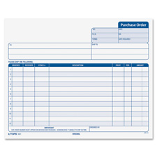 "Purchase orders, carbonless, 3-parts, 8-1/2""x7"", 50st/pk, sold as 1 package, 50 set per package"