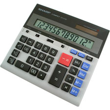 Sharp 12-Dgt Dual Power Dsktp Display Calculator