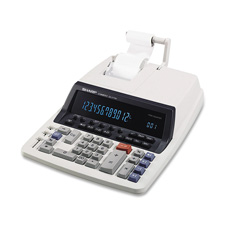 Sharp 12-Digit 2-Color Printing Calculator