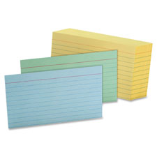 Esselte Colored Ruled Index Cards