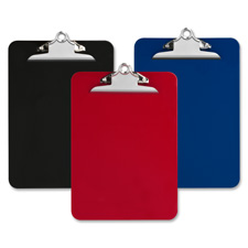 "Plastic clipboard, recycled, 1"" cap, 9""x12"", black, sold as 1 each, 25 each per each"