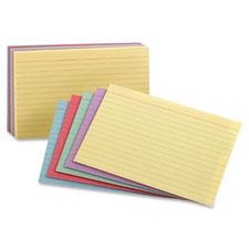 Esselte Rainbow Pack Index Cards