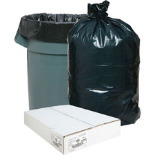 "Trash can liners,rcycld,7-10 gal,.65mil,24""x23"",500/bx,bk, sold as 1 box"