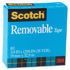 3M Scotch Removable Magic Tape Roll