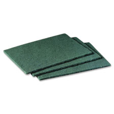 "Scotch brite scrubbing pads, 6""x9"", 20/pk, green, sold as 1 package"