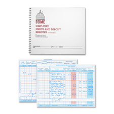 "Check/deposit register, 50 pages, 10-1/4""x8-1/2"", gray, sold as 1 each"
