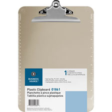 "Transparent plastic clipboard, 9""x12"", blue, sold as 1 each"