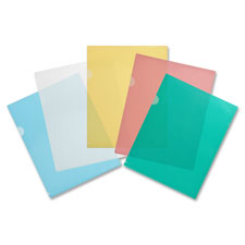 "Transparent file holders,water resistant,11""x8-1/2"",10/pk,cl, sold as 1 package, 10 each per package"
