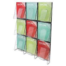 Deflect-O 9-Pocket Wall Mount Literature Racks