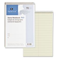 "Steno notebook, gregg ruled, 60 sheets, 6""x9"", green, sold as 1 each, 900 set per each"