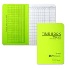 "Time book, pocket size, weekly/1 page, 6-3/4""x4-1/8"", white, sold as 1 each"