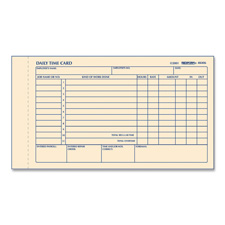 Rediform Daily Time Clock Cards