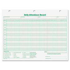Tops Daily Attendance Record Forms