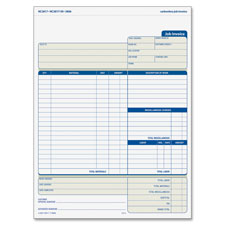 Tops Three Part Carbonless Job Invoice Forms