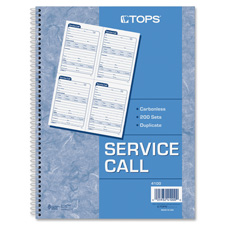 Tops Service Call Message Forms