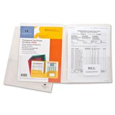 Sparco Transparent 2-Pocket Portfolios