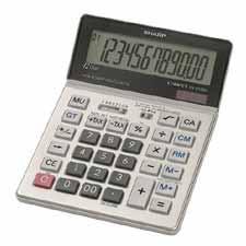Sharp 12-Digit Dual Power Desktop Calculator