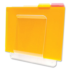 "File/chart holder, 1 compartment, 10""x2""x10-1/2"", clear, sold as 1 each"