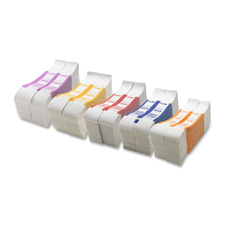 Bill strap, 50, 1000/bx, white/orange, sold as 1 box, 1000 each per box