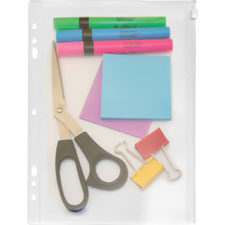 "Zip all ring binder pocket, 11""x8-1/2"", clear, sold as 1 each, 500 each per each"