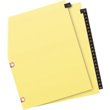 Avery A-Z Copper-Reinforced Leather Index Dividers