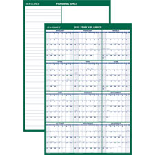 At-A-Glance Yearly Vertical Erasable Wall Planner