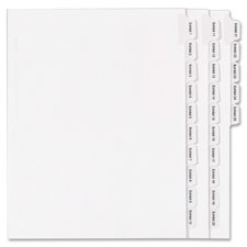 Avery Numberic Side Tab Legal Exhibit Dividers