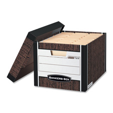 Fellowes Bankers Box R-Kive Woodgrain Stor. Boxes