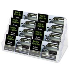 Deflect-O Desktop Clear Business Card Holder