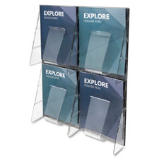 Deflect-O 4-Pocket Clear Literature Rack