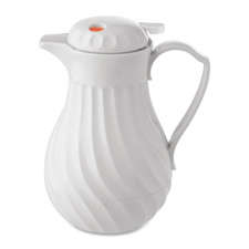 Hormel Insulated White Swirl Carafes
