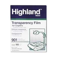 3M 901 Highland Plain Paper Transparency Film