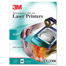 3M CG3300 Laser Printer Transparency Film