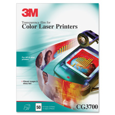 3M Color Laser Printer Transparency Film