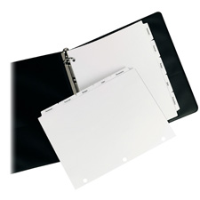 Avery 3-Hole Punched Copier Tabs