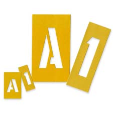"Painting stencil numbers/letters, 1"", yellow, sold as 1 set, 21 each per set"