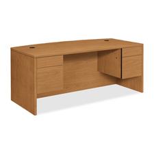 Hon 10500 Series Double Pedestal Bow Top Desks