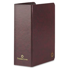 "Storage binder, classic, 3"" thick, 5-1/2""x8-1/2"", burgundy, sold as 1 each"