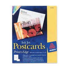 Avery Heavyweight Card Stock Inkjet Postcards