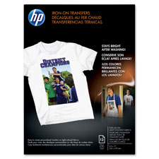 HP Inkjet Iron-On T-Shirt Transfers