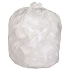 "Heavy-duty trash bags,.8 mil,13 gallon,24""x31"",150/bx,white, sold as 1 box, 20 each per box"